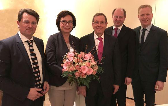 Guido Gutsche, Mechthild Börger, Dr. Heinz Börger, Landrat Dr. Olaf Gericke, Henning Rehbaum MdL