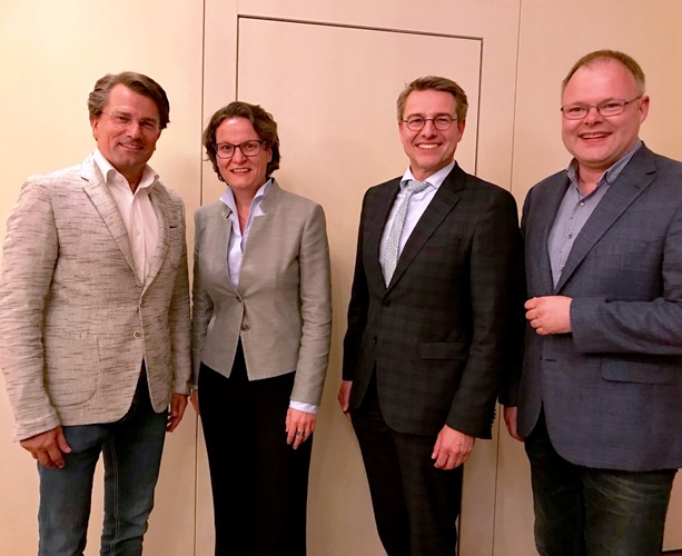 Guido Gutsche, Ina Scharrenbach, Stephan Schulze-Westhoff, Dr. Stefan Funke