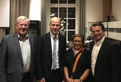 von links: Paul Tegelkemper, Ralph Brinkhaus, Andrea Geiger, Guido Gutsche